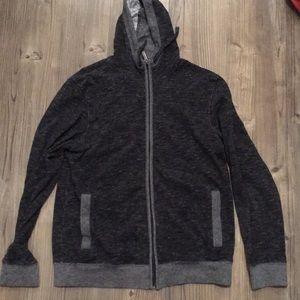 Men's Kenneth Cole gray zip up hoodie L